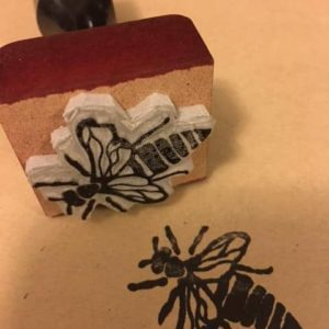 Queen Bee Stamp