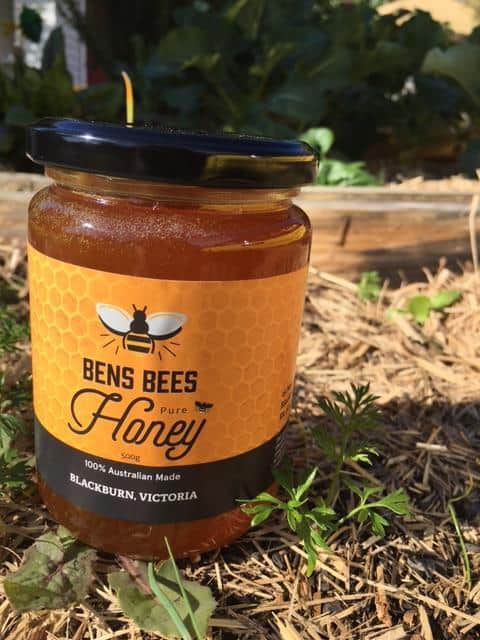 Pure Honey 500 gram in Glass Jar
