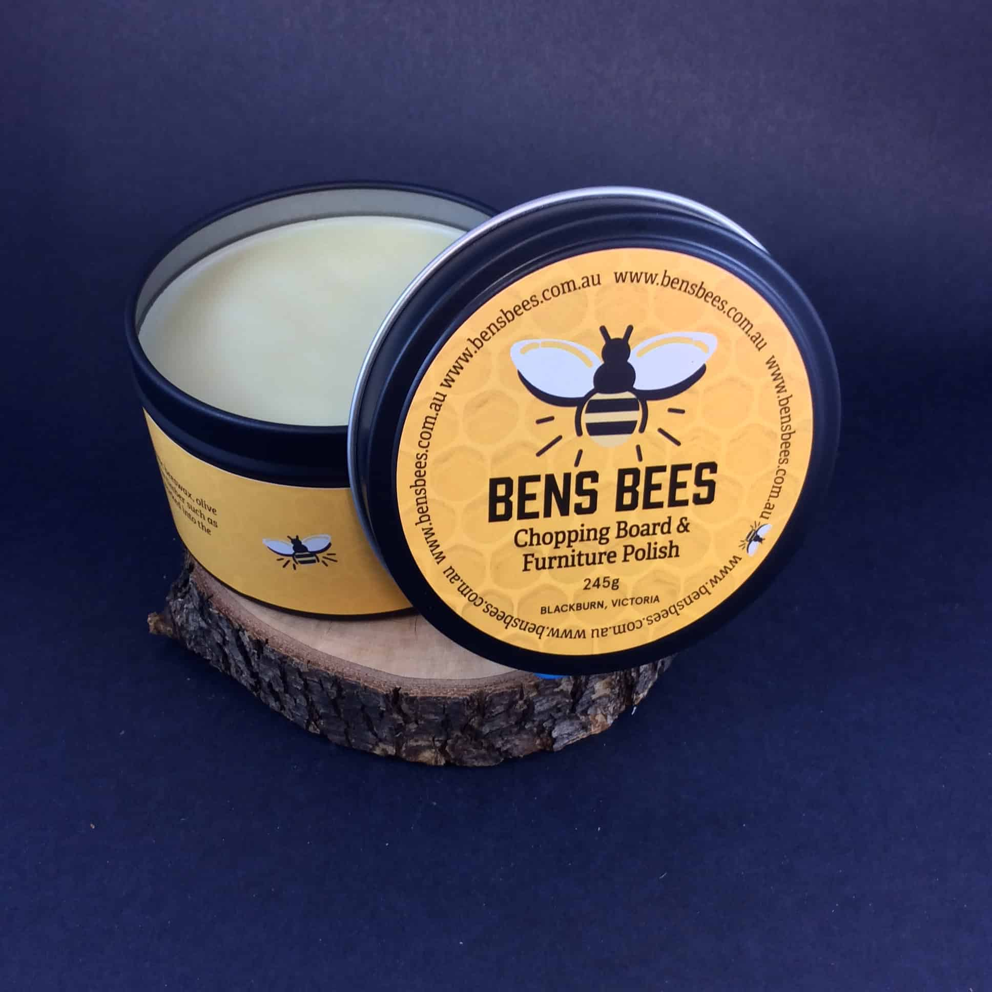 Ben's Bees Chopping Board And Furniture Polish