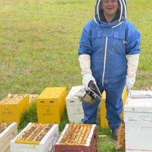 denim beekeeping suit